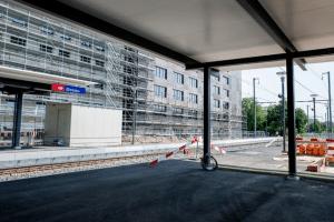 La gare de la Zimeysa voit ses quais être allongés de 160 mètres pour accueillir des trains plus longs. Image: Magali Girardin